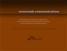 Tablet Preview of crossroadscommunications.org